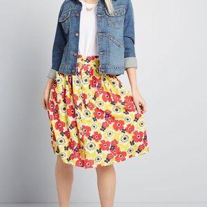ModCloth Act Accordingly Midi Skirt